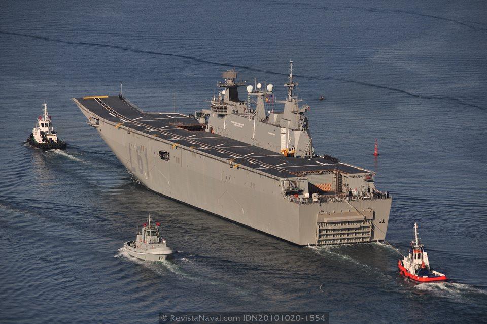 El «Juan Carlos I» es el mayor buque en la historia de la Armada (Foto: Revista Naval)
