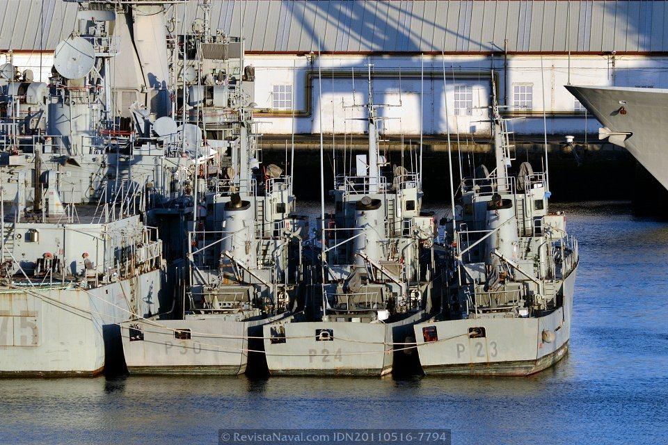 La Armada saca a subasta los patrulleros «Mouro», «Marola» y «Bergantín»