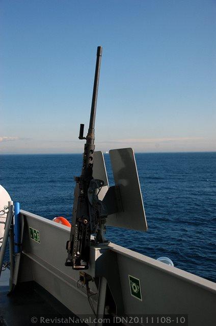 Ametralladora M2 HB de 12,7 mm (Foto: Javier Sánchez García/Revista Naval)