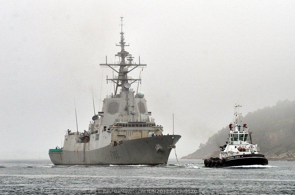 La fragata «Cristóbal Colón» finalizó su segundo periodo de pruebas de mar