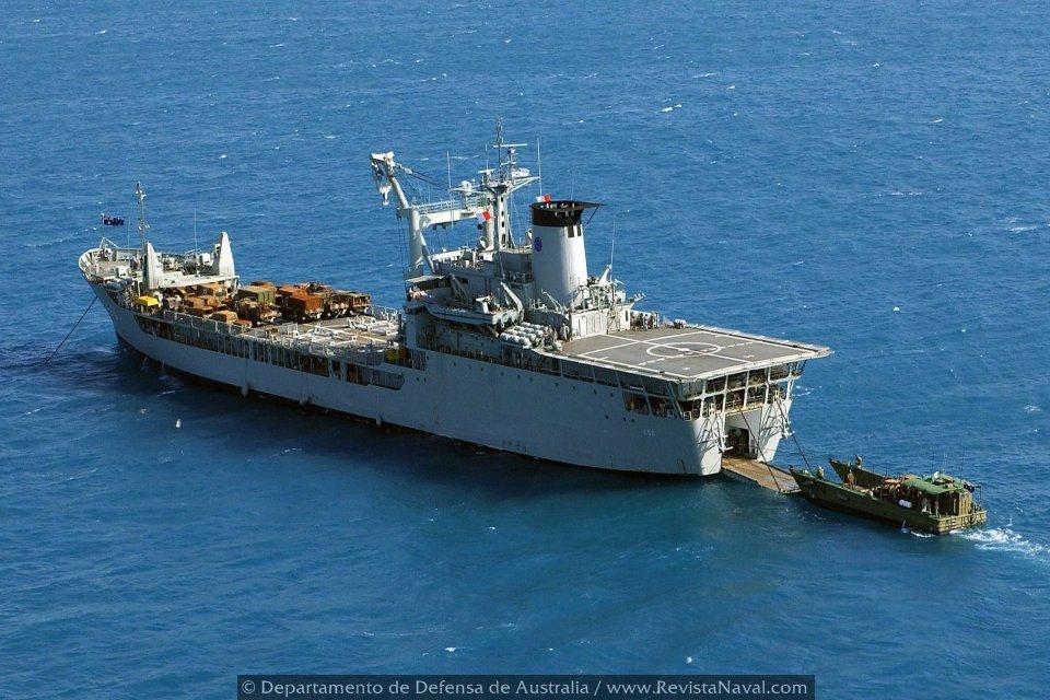 Buque de desembarco L50 Tobruk (Foto: Oficial Departamento de Defensa de Australia)
