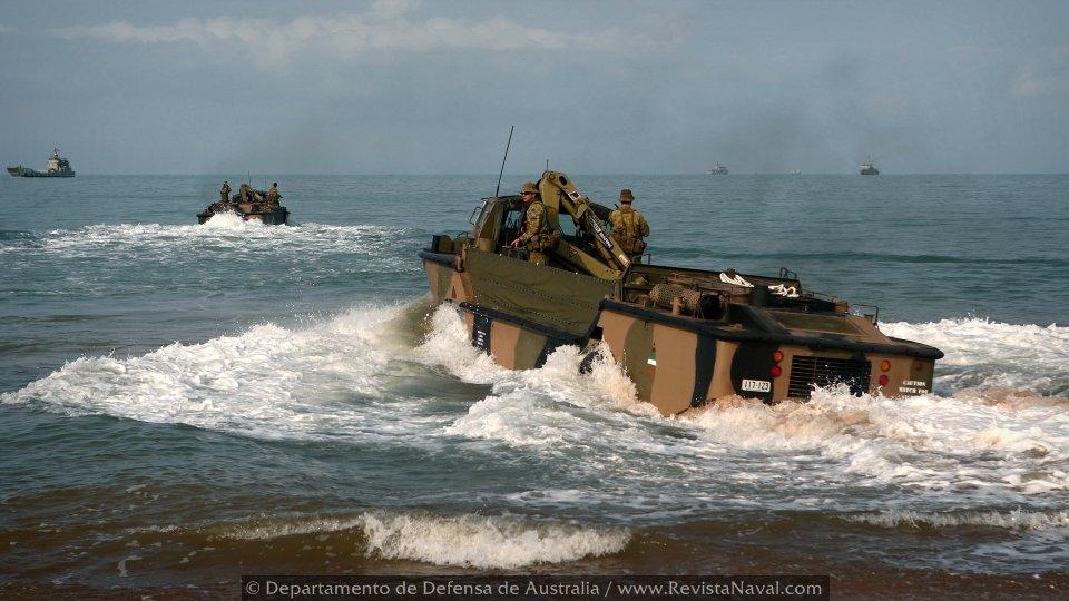 Unidades del Ejército australiano (Foto: Oficial Departamento de Defensa de Australia)