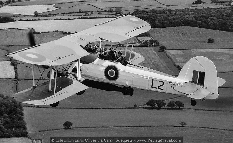 Fairey Swordfish, apodado «Stringbag», hizo su primer vuelo en 1934 (Foto: colección Enric Oliver vía Camil Busquets)