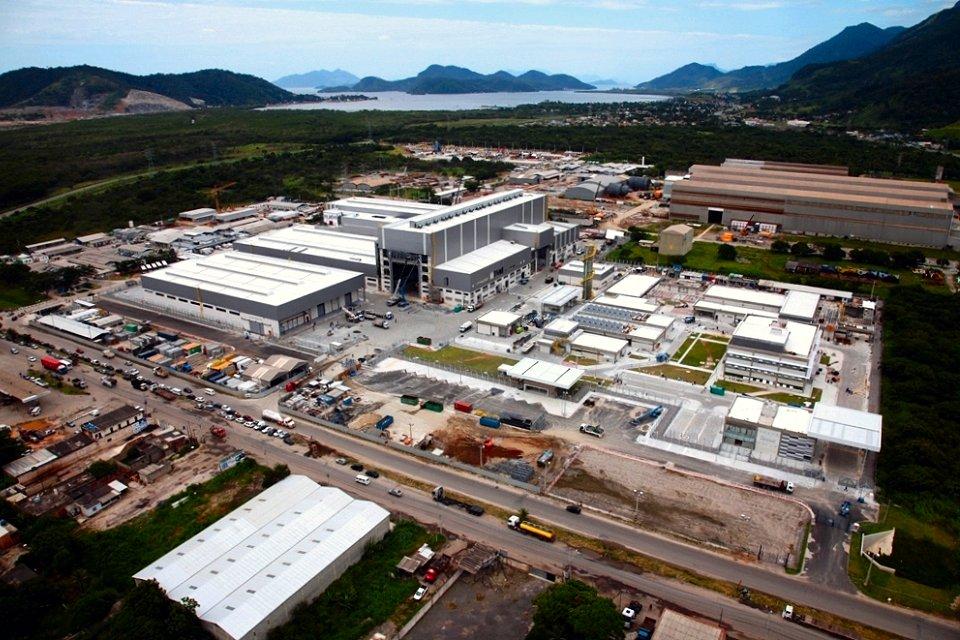Vista aérea de las instalaciones de producción del programa Prosub (Foto: DCNS)