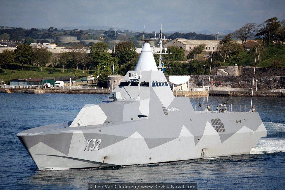 Corbeta sueca «Helsingborg» K-32 está destinada a otro tipo de misiones muy distintas a la que pueden desempeñar los OPV (Foto: Leo Van Ginderen vía Javier Sánchez)