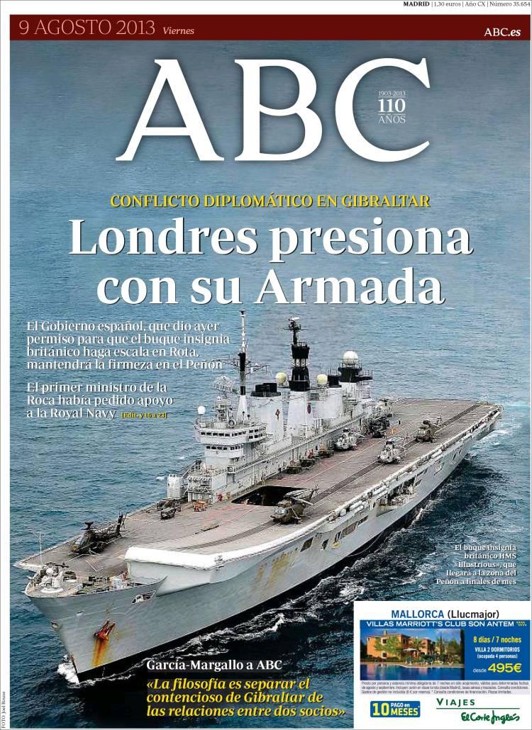 Gibraltar polariza las portadas de la prensa española
