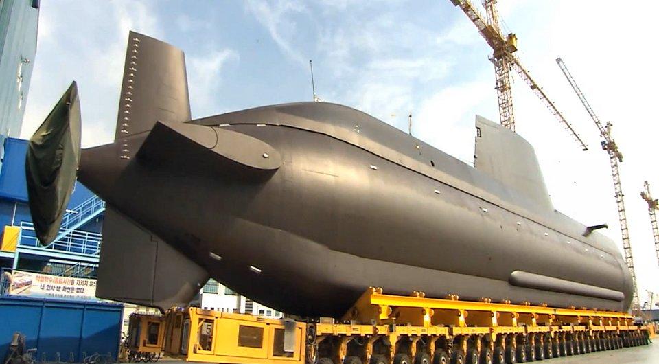 Tipo 214 coreano. Vista de popa (Foto: vía Armada de Corea del Sur)