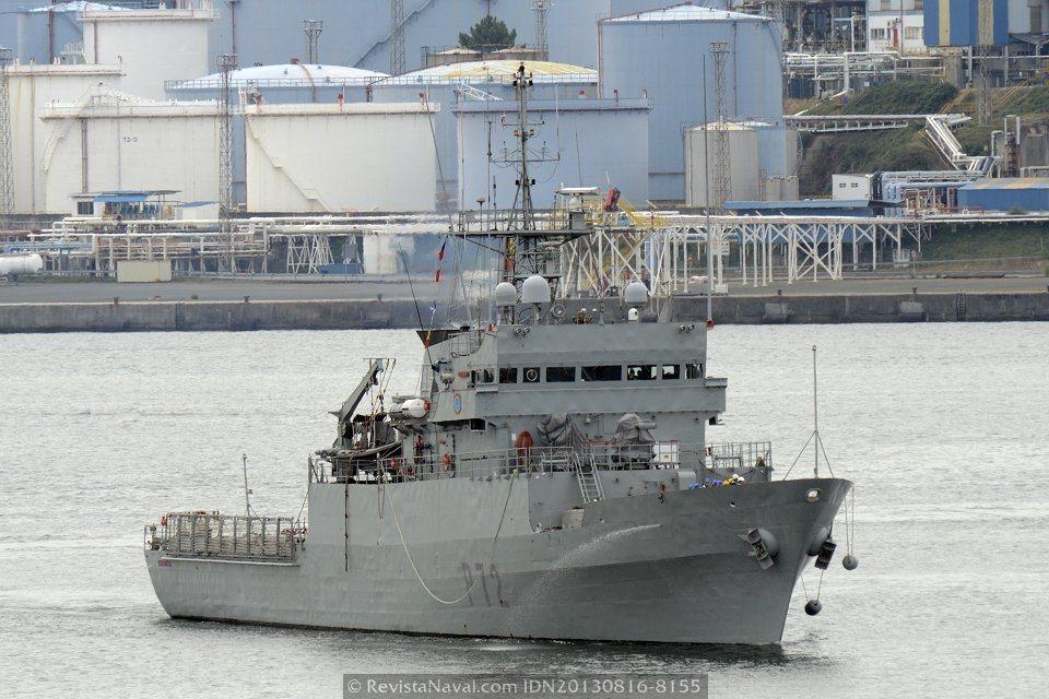 El patrullero «Centinela» regresó a su base en Ferrol tras una semana de patrulla por el Cantábrico