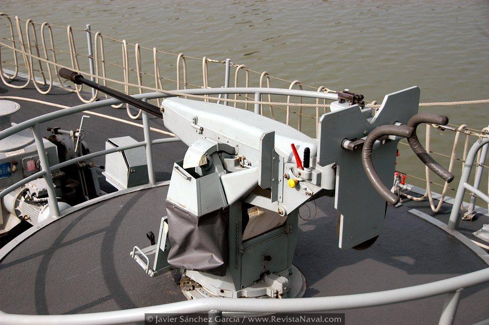 Cañon GAM-B01 de 20 mm (Foto: Javier Sánchez García/Revista Naval)