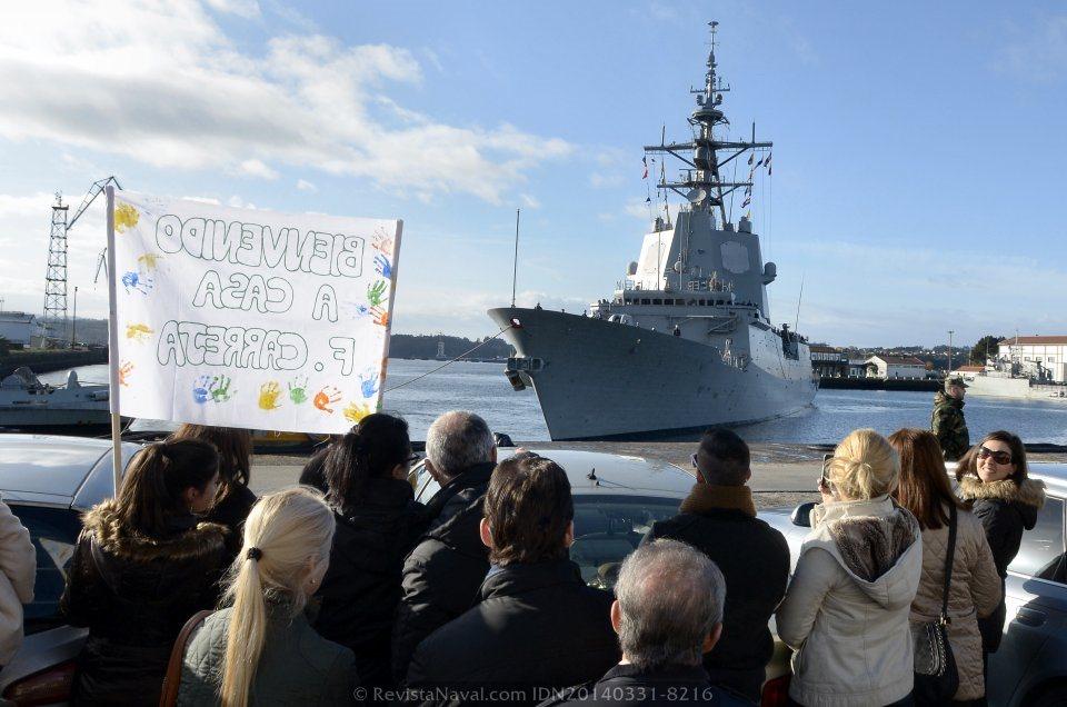 El buque regresó a puerto tras 179 días de misión, 140 de ellos de mar, recalando en 15 puertos (Foto: Revista Naval)