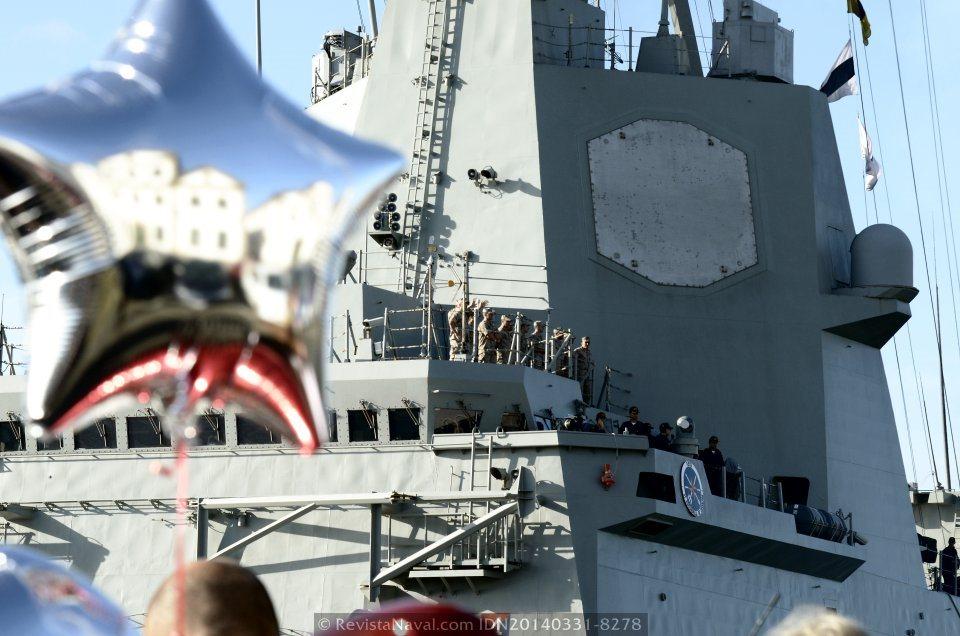 La Armada mantiene durante un año el mando de la SNMG-2, con sucesivas rotaciones de fragatas F-100, en la actualidad desarrolla el cometido de buque insignia la fragata F-105 «Cristóbal Colón» (Foto: Revista Naval)