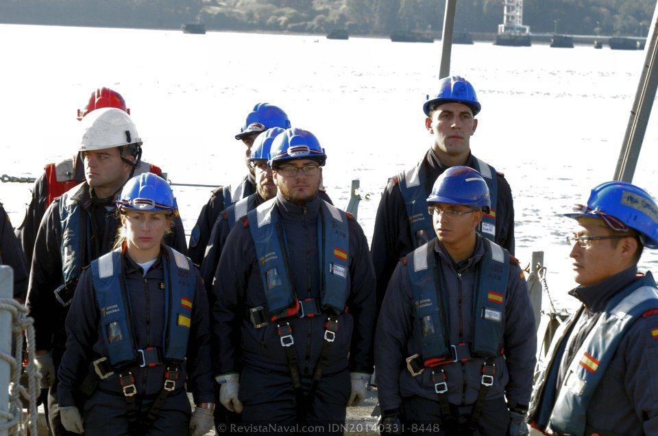Personal de maniobra presentando honores (Foto: Revista Naval)