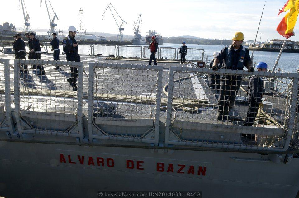 Imagen de la toldilla de la fragata «Álvaro de Bazán» (Foto: Revista Naval)