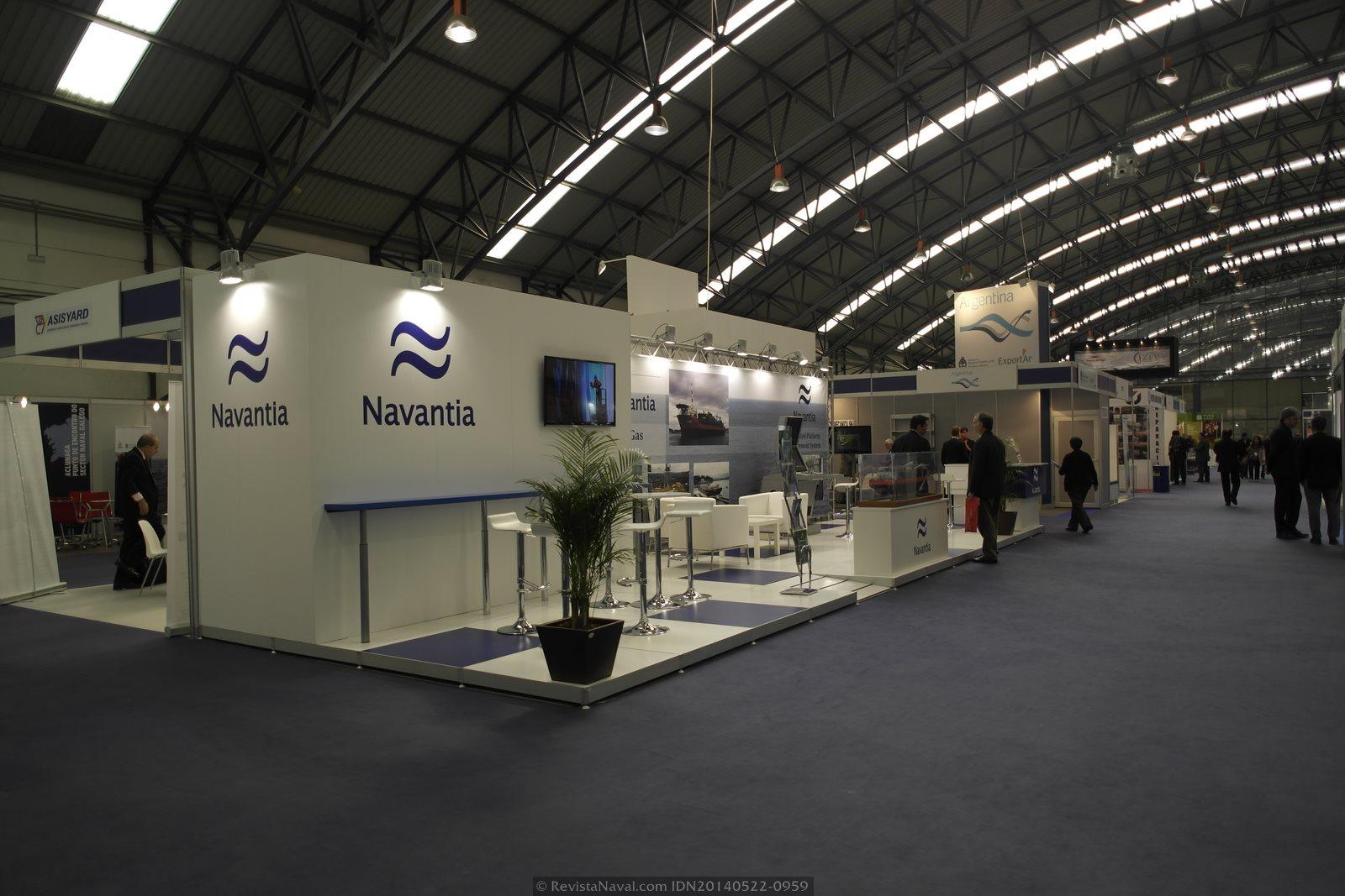 Estand de Navantia (Foto: Revista Naval)
