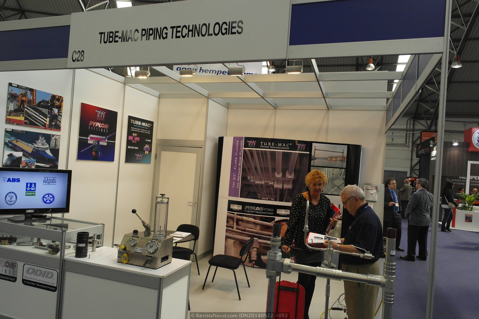 Estand de Tube-Mac Pipping Technologies (Foto: Revista Naval)