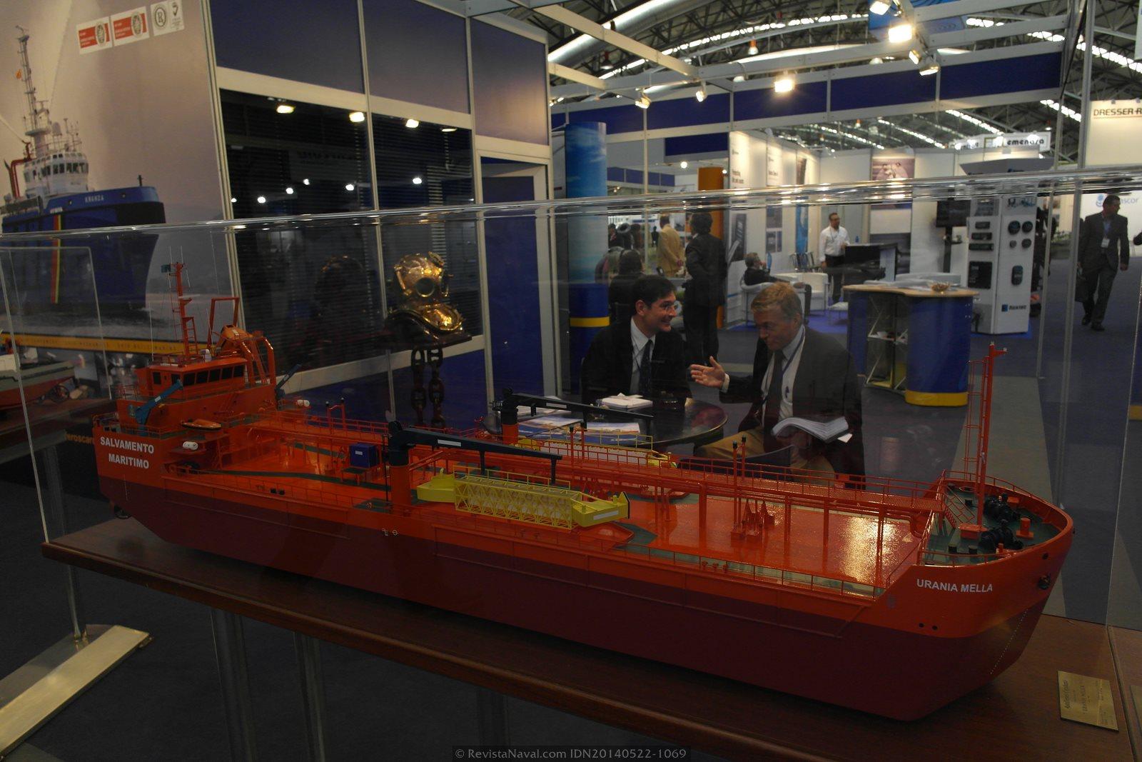Modelo del Urania Mella, hoy renombrado como Monte Arucas (Foto: Revista Naval)