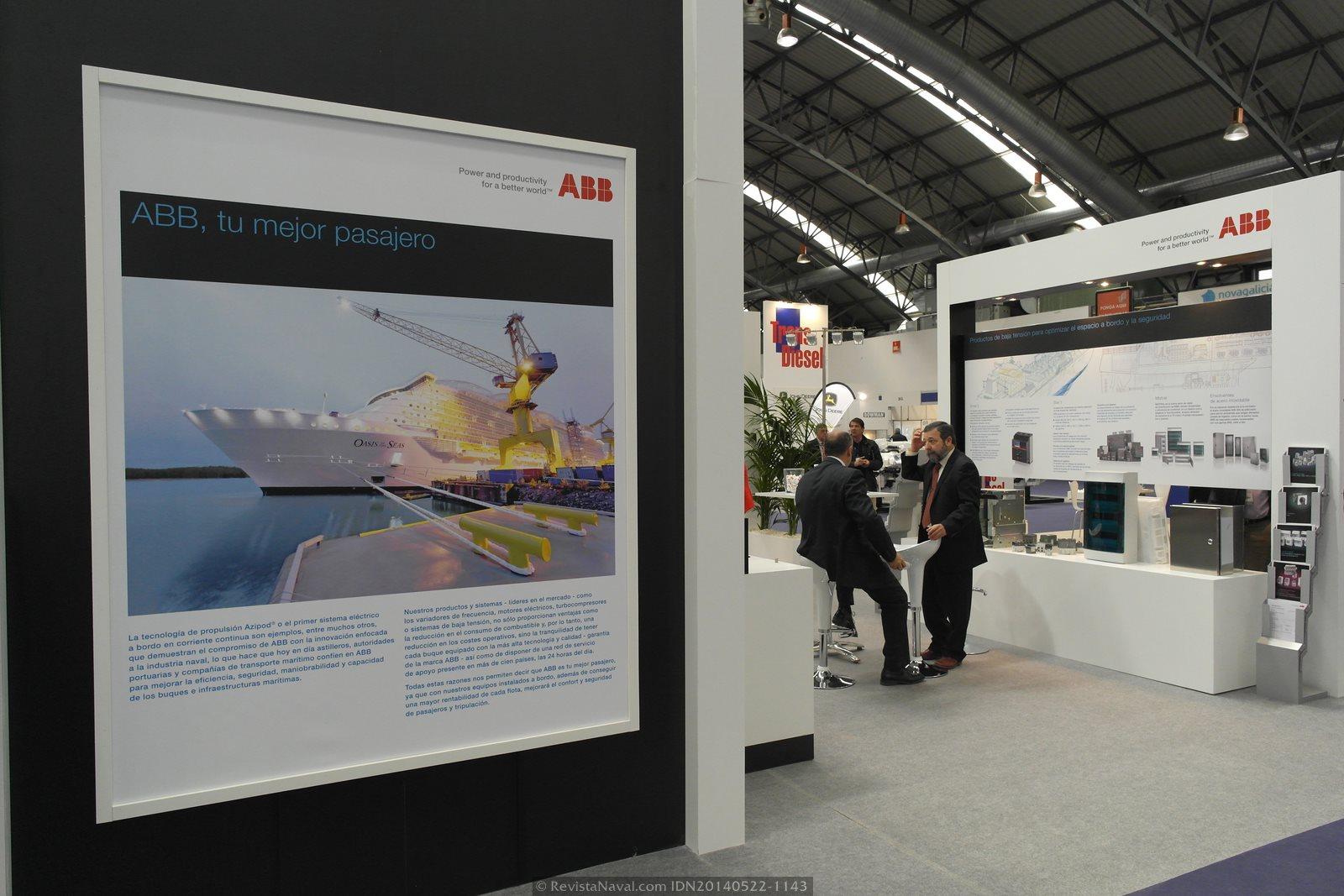 Estand de ABB (Foto: Revista Naval)
