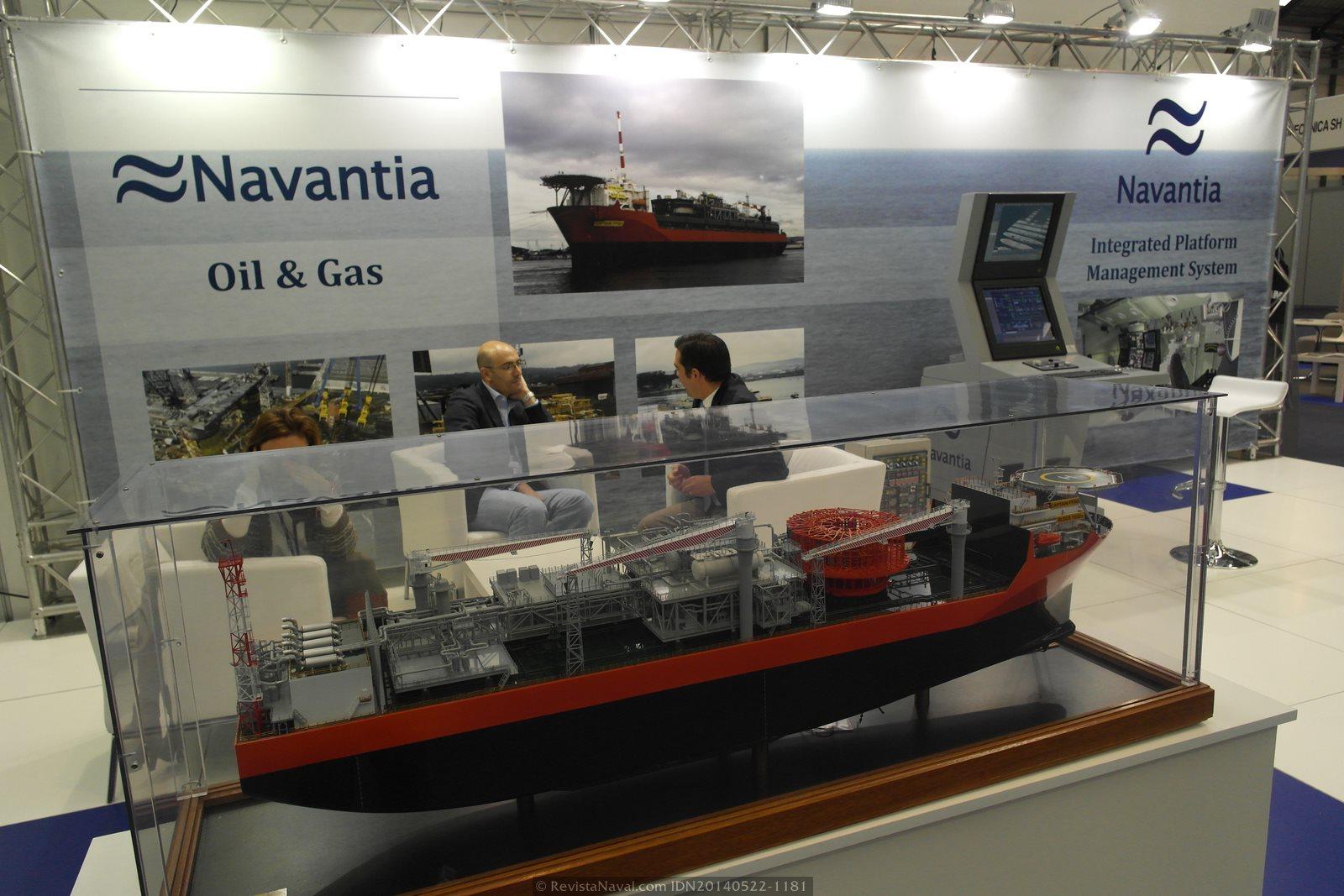 Navantia estuvo presente por primera vez en la feria, presentando sus productos y servicios en el ámbito civil (Foto: Revista Naval)