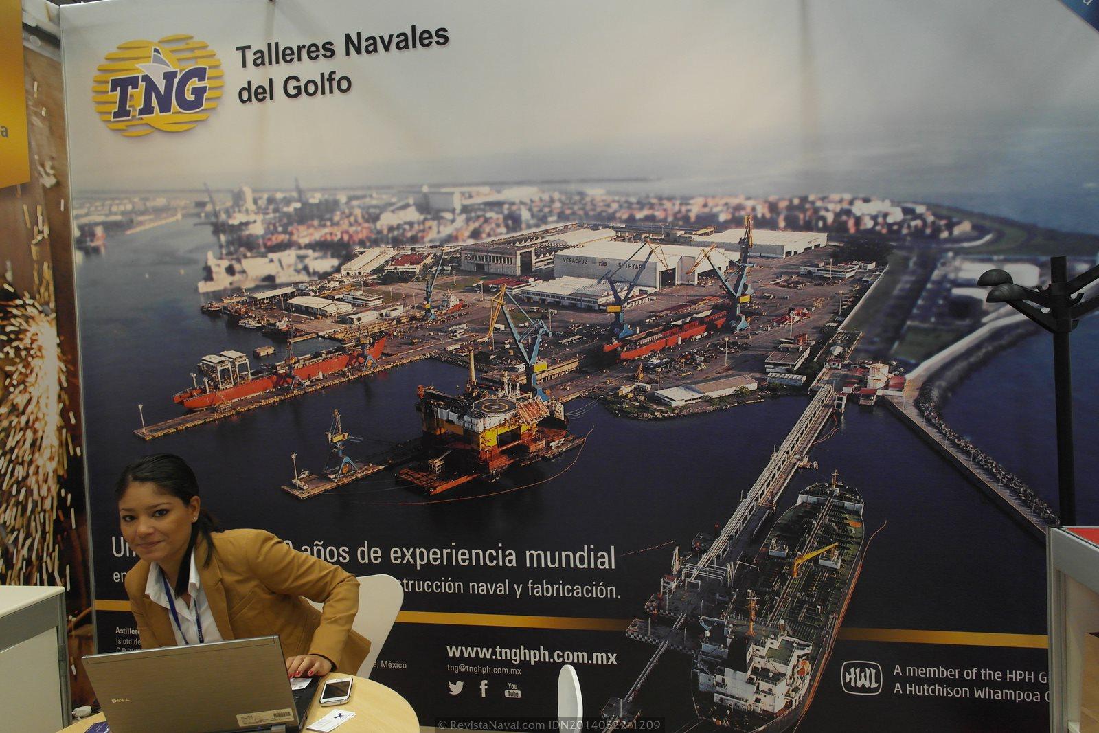 TNG de Veracruz, México. La feria contó con representantes del país norteamericano (Foto: Revista Naval)