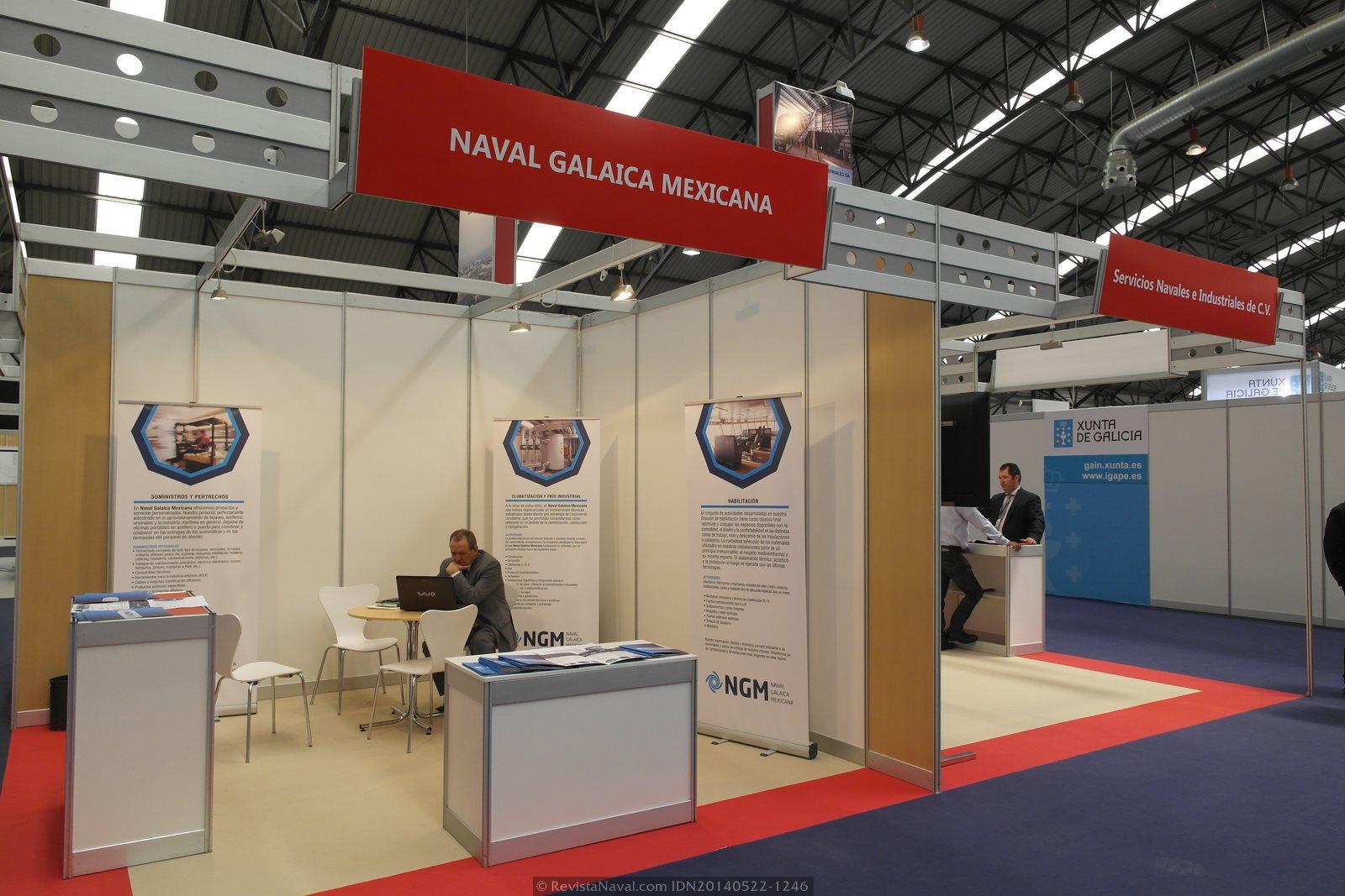 Estand de NGM Naval Galaica Mexicana (Foto: Revista Naval)