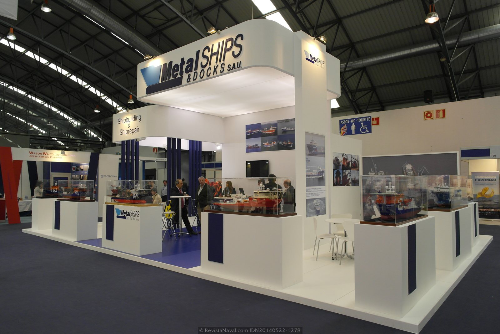 Estand de MetalShips & Docks (Foto: Revista Naval)