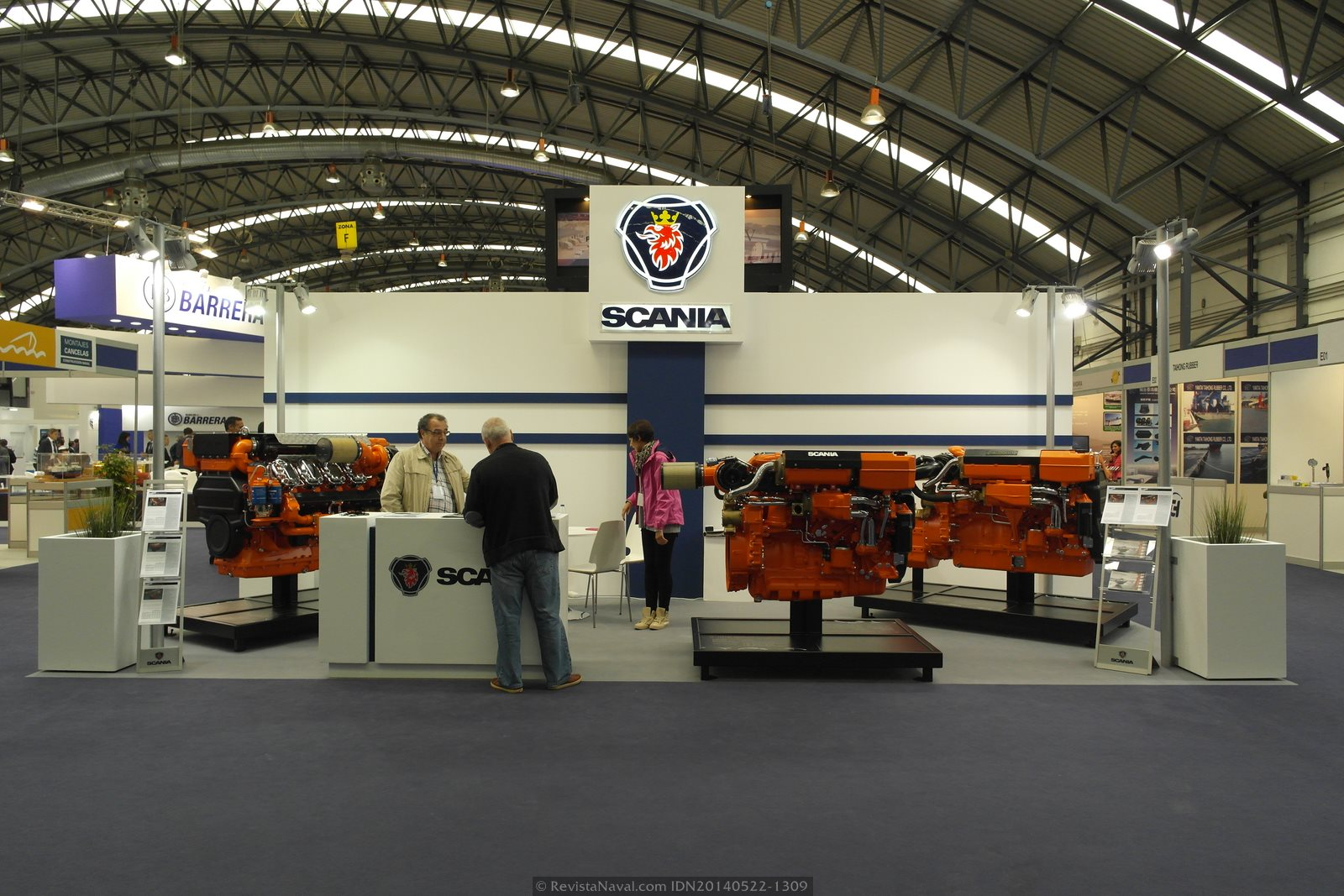 Estand de Scania (Foto: Revista Naval)