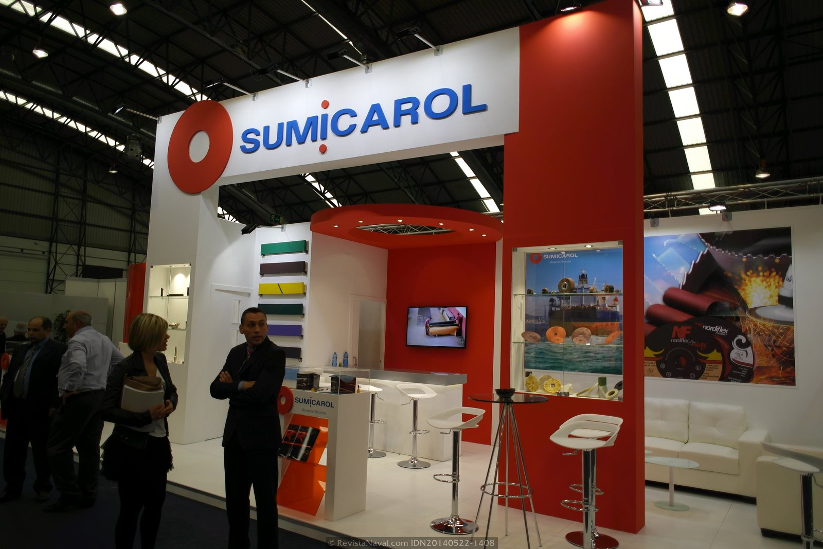 Estand de Sumicarol (Foto: Revista Naval)