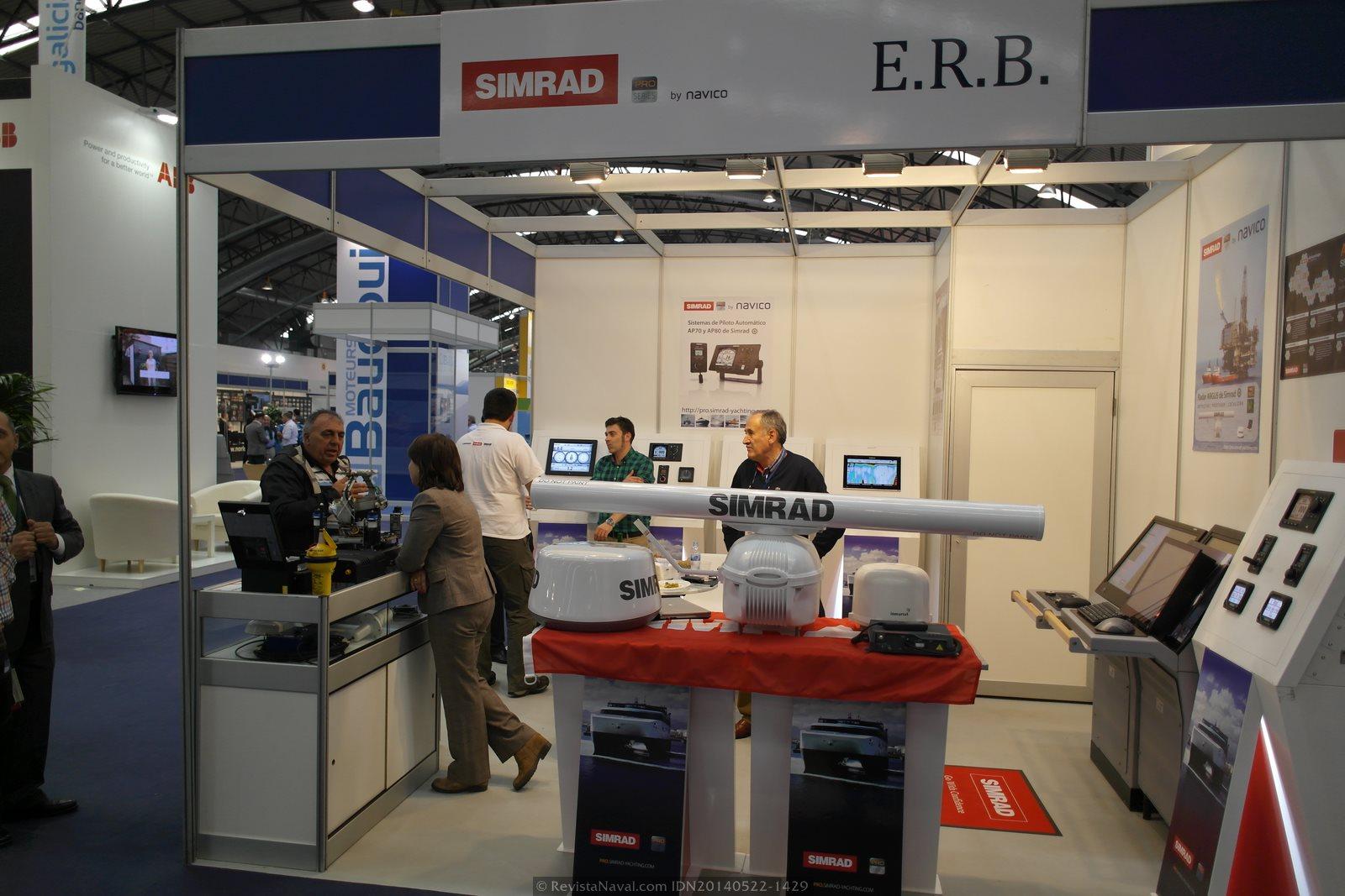 Estand de ERB (Foto: Revista Naval)