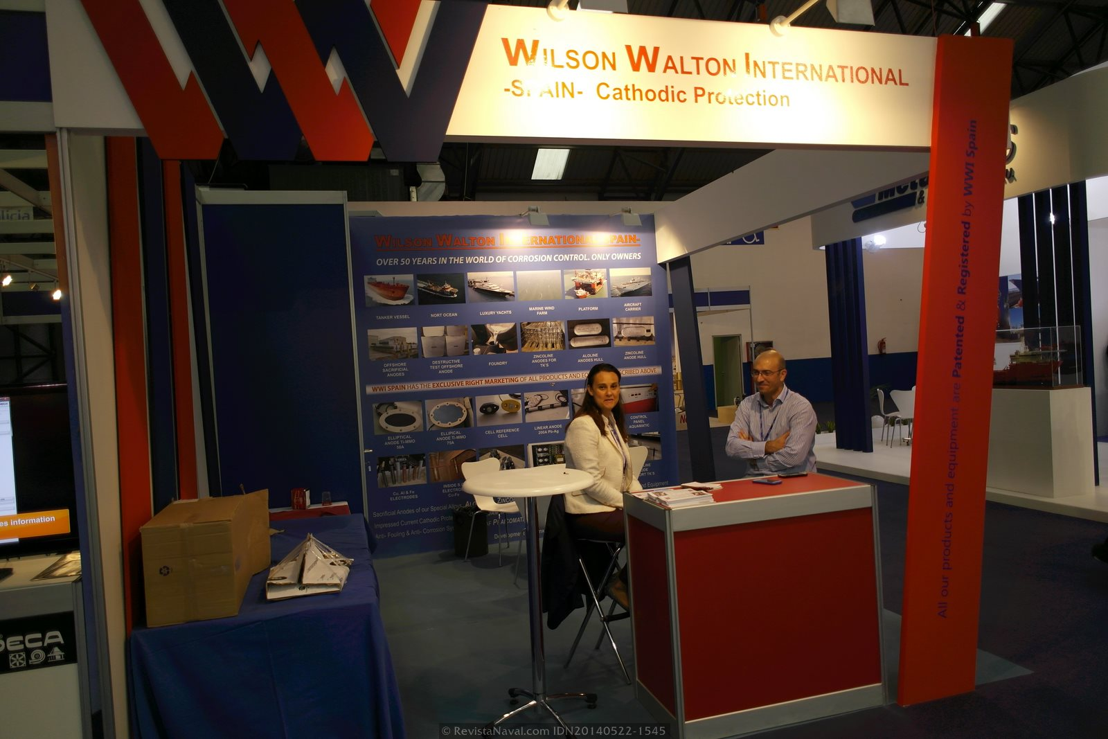 Estand de Wilson Walton International (Foto: Revista Naval)