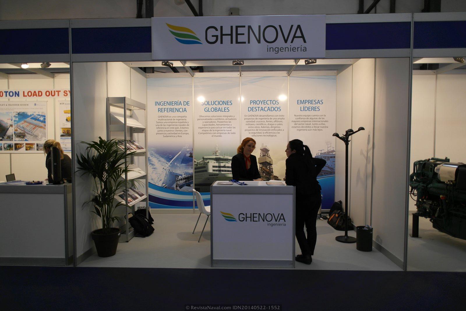 Estand de Ghenova Ingeniería (Foto: Revista Naval)