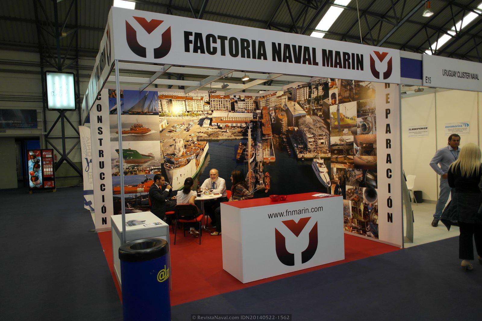 Estand de Factoría Naval de Marín (Foto: Revista Naval)