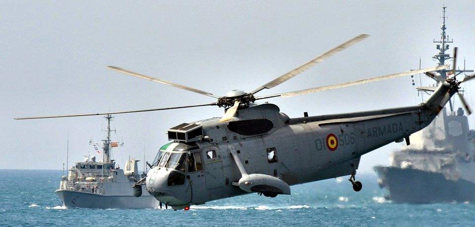 La barquilla de los SH-3D está diseñada para poder amerizar en caso de emergencia (Foto: Revista Naval)