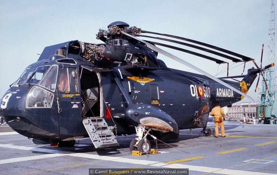 «La Quinta» recibió un total de 18 helicópteros en varios lotes entre 1966 y 1981 (Foto: Camil Busquets i Vilanova/Revista Naval)