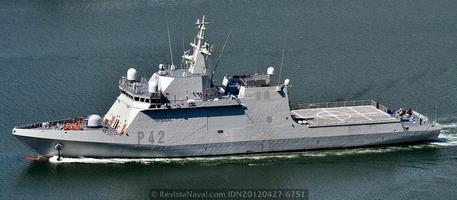 Vista del BAM P-42 «Rayo» (Foto: Revista Naval)