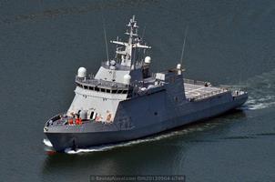 Los cuatro BAM en servicio: P-42 «Rayo» (Foto: Revista Naval)