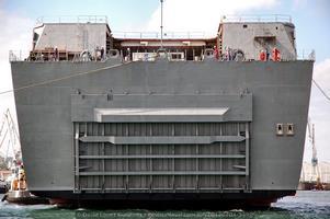 El «Adelaide» ya a flote. Vista del portón de popa (Foto: David López Gutiérrez / Revista Naval)