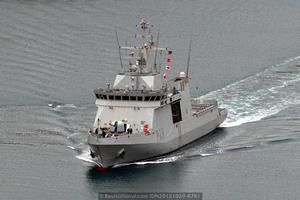 Los cuatro BAM en servicio: P-44 «Tornado» (Foto: Revista Naval)
