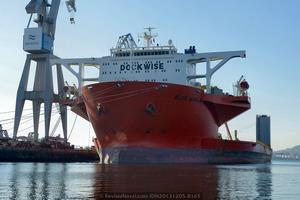 El buque fue entregado a su primer propietario, la noruega OHT, en abril de 2000 (Foto: Xoán Porto/Revista Naval)