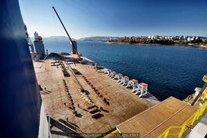 Vista general, al fondo la ciudad de Ferrol (Foto: Rodrigo Díaz Castro/Revista Naval)