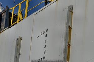 El Blue Marlin es capaz de hundir su casco hasta alcanzar un calado de casi 25 metros, aproximadamente el equivalente a un edificio de 9 plantas (Foto: Rodrigo Díaz Castro/Revista Naval)