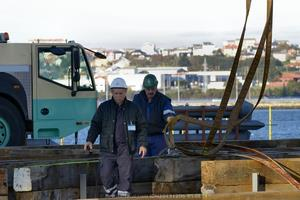 Operarios de Navantia a bordo del Blue Marlin (Foto: Rodrigo Díaz Castro/Revista Naval)