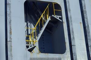 Detalle del pozo de escaleras (Foto: Rodrigo Díaz Castro/Revista Naval)