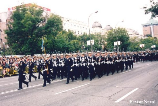 Compañía de alumnos de la Escuela de Especialidades Antonio de Escaño de Ferrol (Foto: Javier Sánchez)