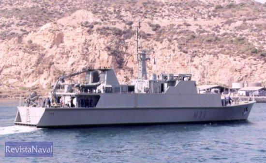 El cazaminas M-36 «Tajo» durante su primera salida a la mar (Foto: Diego Quevedo Carmona)