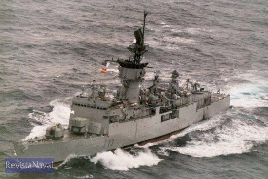 La fragata «Cataluña» durante su vida operativa (Foto: ORP Armada)