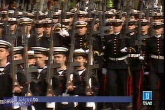 Batallón de la AGRUMAD de Infantería de Marina (Fuente: TVE)