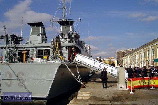 El M-36 «Tajo» fue entregado a la Armada en un acto celebrado en la mañana del día 10 de enero de 2005 (Foto: Lapenu)