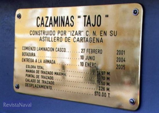 Placa a bordo del buque(Foto: Diego Quevedo Carmona)