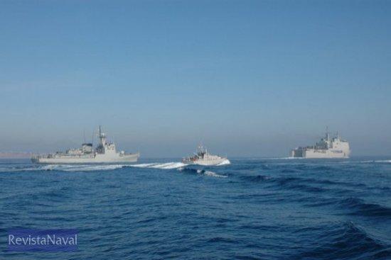 «Descubierta», «Formentor» y «Galicia», en una imagen tomada desde el «Toralla» (Foto: Lapenu)