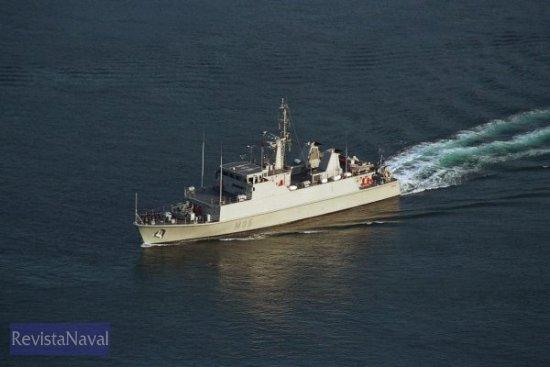 La Fuerza de Medidas Contra Minas española está formada por las 6 unidades de la clase «Segura» y el buque de mando «Diana». En la imagen el cazaminas «Duero» (Foto: X. Porto/RevistaNaval.com)